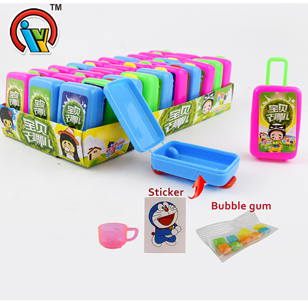 Trunk toy candy with bubble gum
