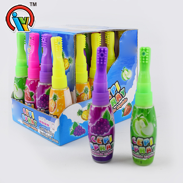 Toothbrush shape fruity spray candy