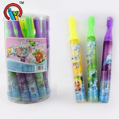 forma de cepillo de dientes fruity spray candy