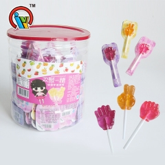 rock-paper-tijeras lollipop hard candy