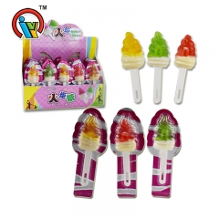 Torch shape fruity lollipop candy