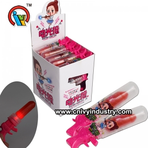 Flicker Lighting Lipstick gun shape lollipop Caramelo